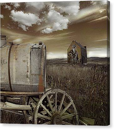 Alone On The Plains Canvas Print by Jeff Burgess