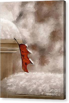 Alone Painterly Canvas Print by Lois Bryan