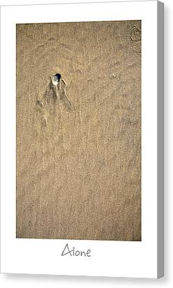 Alone Canvas Print by Peter Tellone