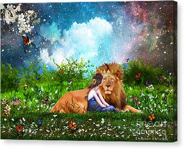 Alone With The King Canvas Print by Dolores Develde