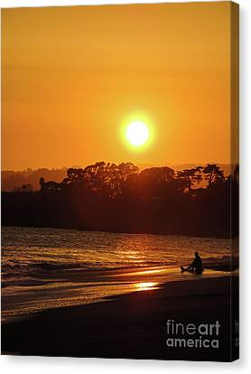 Alone Yet Happy Canvas Print by Grant Bolei