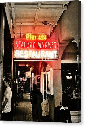 Canvas Print featuring the photograph Along Bourbon Street - New Orleans by Glenn McCarthy Art and Photography