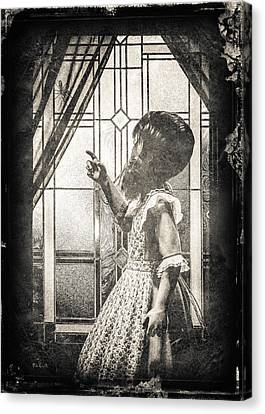 Little Miss Muffet Canvas Print - Along Came A Spider by Bob Orsillo