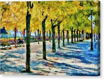 Along De La Commune Canvas Print by Gene Healy