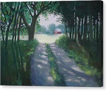 Along Kelderhouse Road Canvas Print by Linda Preece