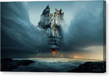 Along Ruined Soul Canvas Print by George Grie