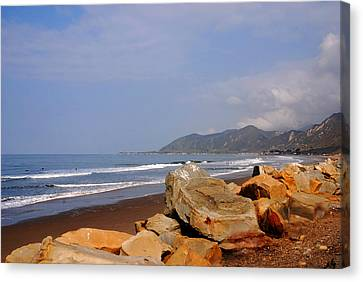 Along The Californian Coast Canvas Print by Susanne Van Hulst