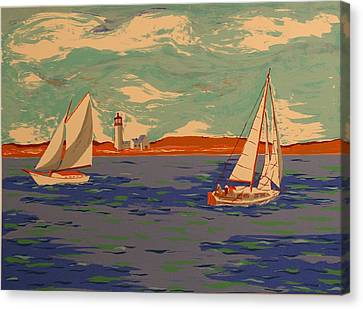 Along The Coast Canvas Print by Biagio Civale