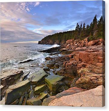 Canvas Print featuring the photograph  Along The Maine Coastline by Stephen  Vecchiotti