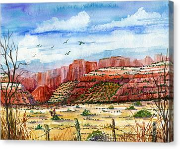 Along The New Mexico Trail Canvas Print by Marilyn Smith