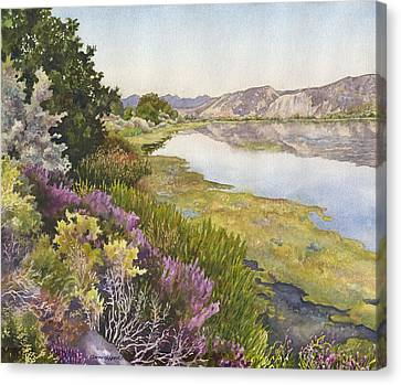 Canvas Print featuring the painting Along The Oregon Trail by Anne Gifford