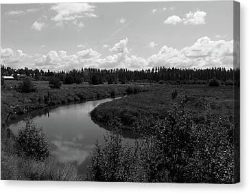 Along The Palouse River Canvas Print