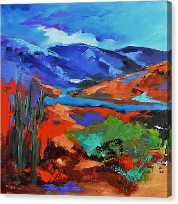 Along The Trail - Arizona Canvas Print by Elise Palmigiani