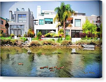 Canvas Print featuring the photograph Along The Venice Canals by Chuck Staley