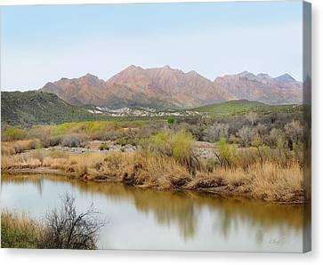 Verde River Canvas Print - Along The Verde River by Gordon Beck