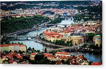 Along The Vltava River Canvas Print
