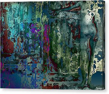 Along The Wall Canvas Print by Francis Erevan
