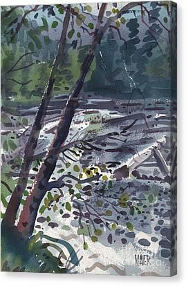 Along The White River Canvas Print