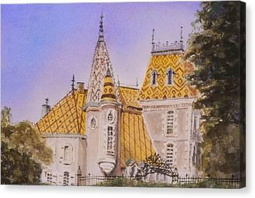Aloxe Corton Chateau Jaune Canvas Print by Mary Ellen Mueller Legault