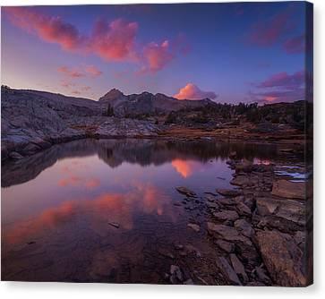 Alpenglow In Hoover Wilderness Canvas Print