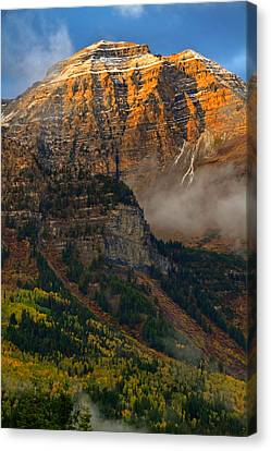 Alpenglow On Mt. Timpanogos Canvas Print by Utah Images