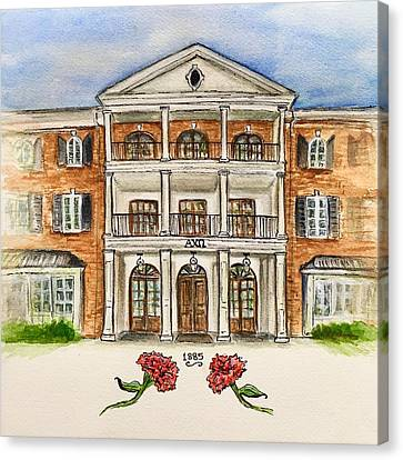Tuscaloosa Canvas Print - Alpha Chi Omega by Starr Weems