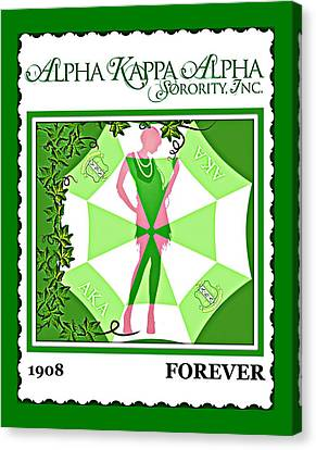 Alpha Kappa Alpha Canvas Print by Lynda Payton