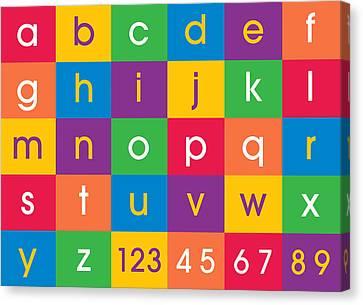 Alphabet Colors Canvas Print by Michael Tompsett
