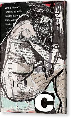 Alphabet Nude C Canvas Print by Joanne Claxton