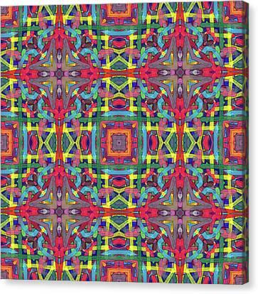 Alphabet Soup -multi-pattern- Canvas Print