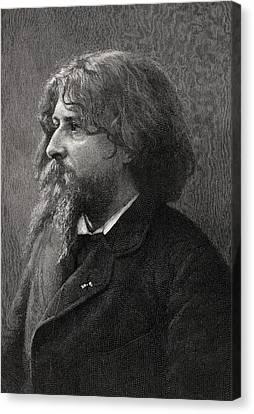 Alphonse Daudet 1840-1897 French Canvas Print by Vintage Design Pics