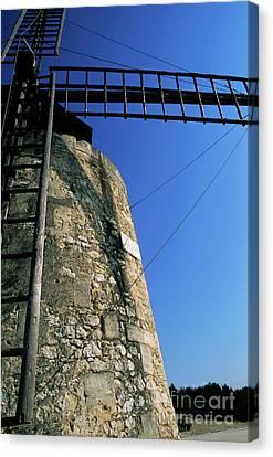 Alphonse Daudet Windmill In Provence Canvas Print by Sami Sarkis