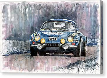 Alpine A 110 Canvas Print by Yuriy  Shevchuk