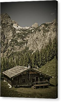 Alpine Cabin Canvas Print by Frank Tschakert