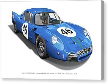 Alpine Renault A210 Canvas Print by Alain Jamar