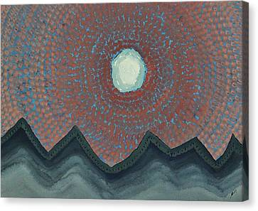 Alpine Resonance Original Painting Canvas Print