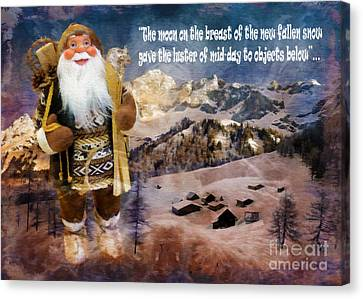 Alpine Santa Card 2015 Canvas Print