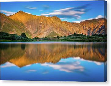 Alpine Sunglow Canvas Print by Darren White