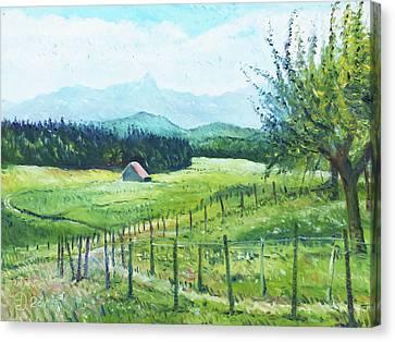 Alps From Geneva Switzerland 2016 Canvas Print by Enver Larney