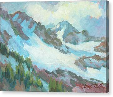 Alps In Switzerland Canvas Print by Diane McClary