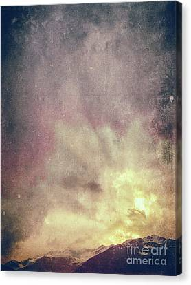 Alps With Dramatic Sky Canvas Print