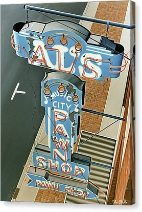 Realistic Canvas Print - Al's  by Van Cordle