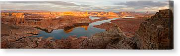 Canvas Print featuring the photograph Alstrom Point Panorama by Dustin LeFevre