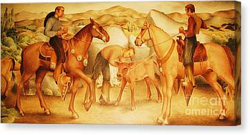 Alta California Rancheros Canvas Print by Pg Reproductions