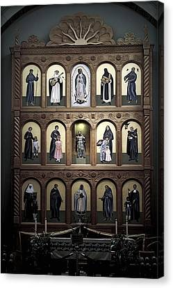 Altar Screen Cathedral Basilica Of St Francis Of Assisi Santa Fe Nm Canvas Print by Christine Till