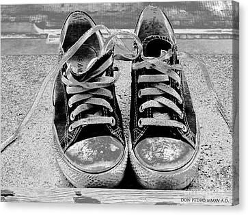 Old Sneakers. Canvas Print by Don Pedro De Gracia