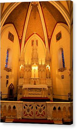 Alter At The Loretto Chapel Canvas Print by Jeff Swan