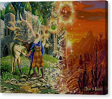 Canvas Print featuring the painting Alter Terrain by Steve Roberts