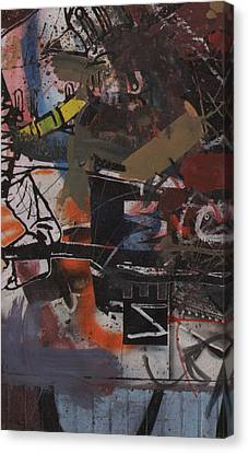 Canvas Print featuring the painting Altered One-off #1 by Robert Anderson