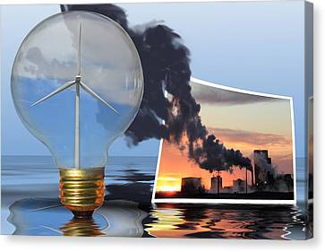 Alternative Energy Canvas Print by Shane Bechler